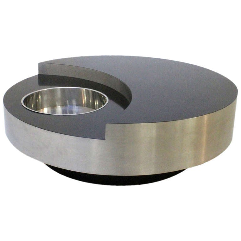 Willy Rizzo Revolving Coffee Table At 1stdibs