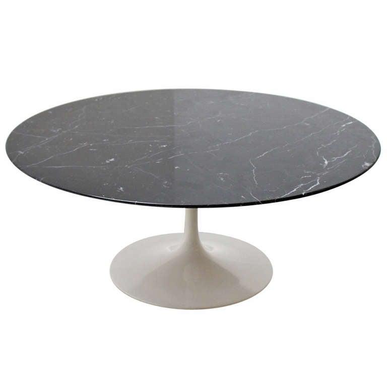 Saarinen Black Marble Coffee Table At 1stdibs