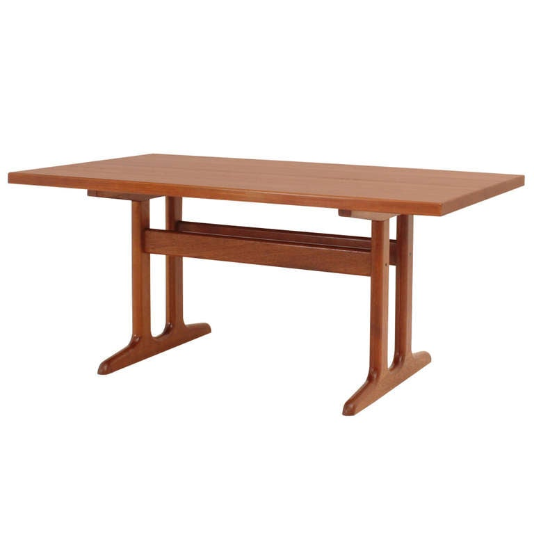 Danish Dining Table in Solid Teak Wood at 1stdibs : 1159024l from www.1stdibs.com size 768 x 768 jpeg 20kB