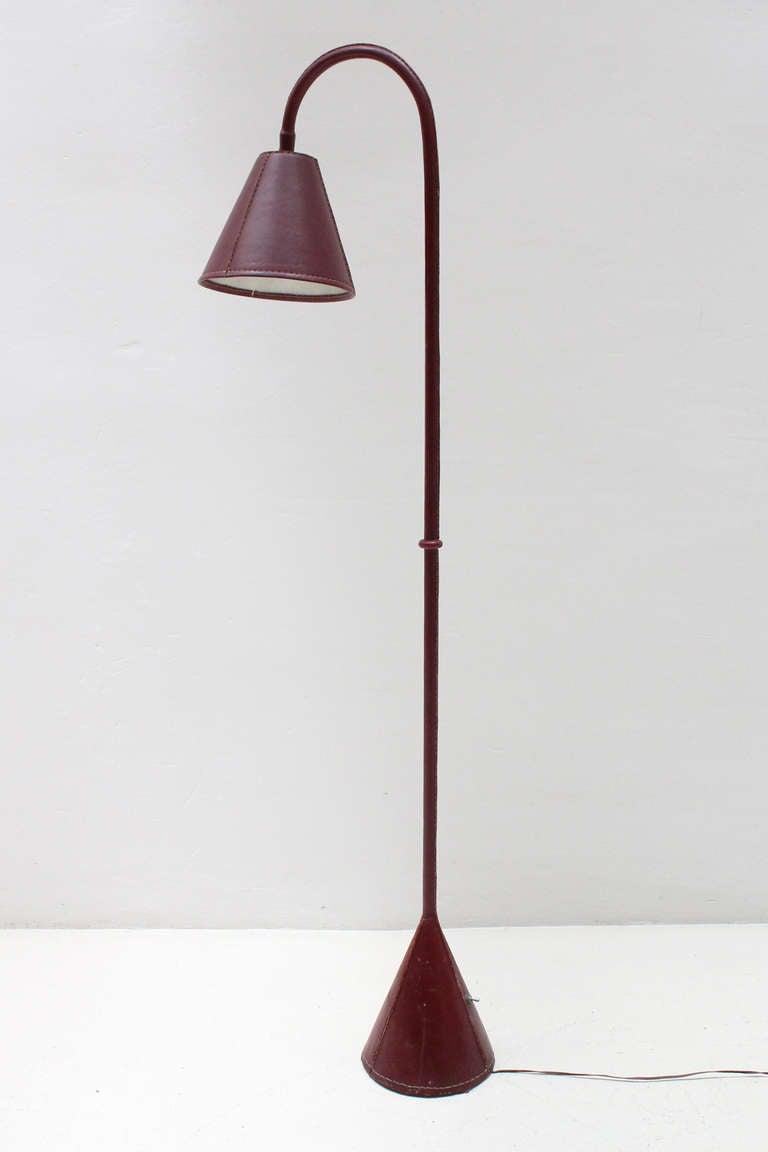 Nice Burgundy Adnet Floor Lamp at 1stdibs