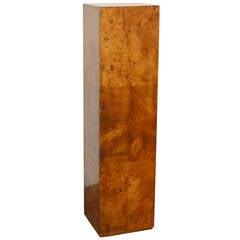 Tall Burl Wood Pedestal