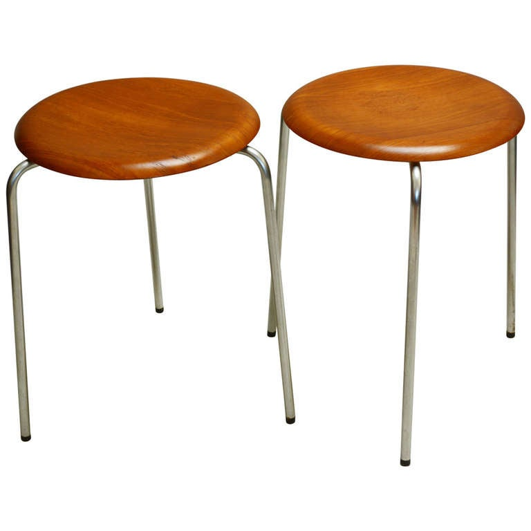 Pair Of Stools By Arne Jacobsen At 1stdibs