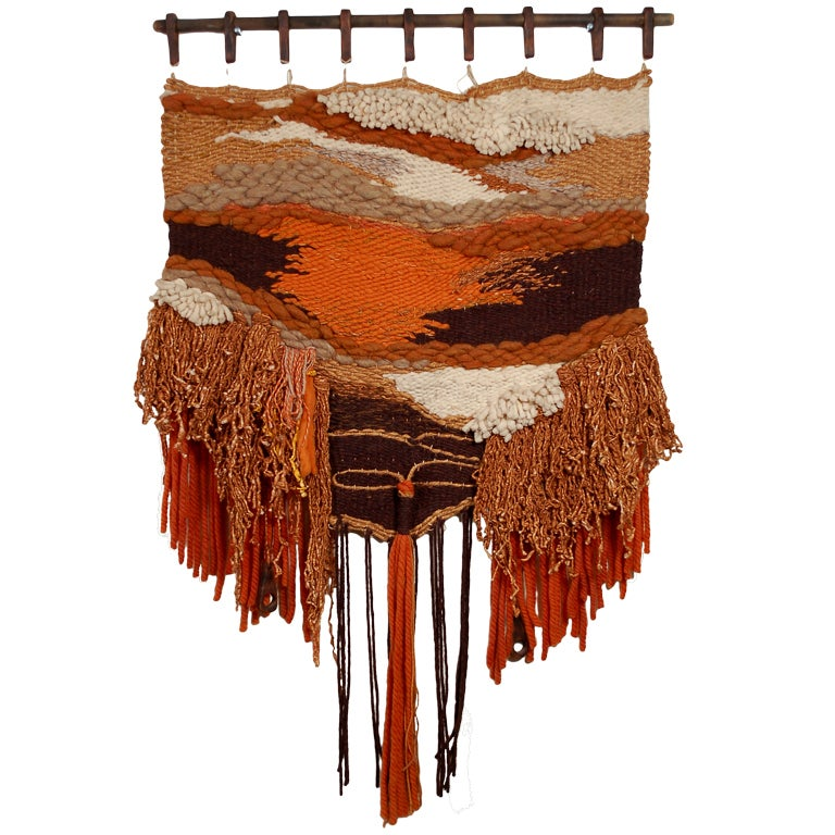 California Woven Tapestry Wall Hanging At 1stdibs