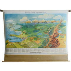 Denoyer Geographical Terms School Wall Map