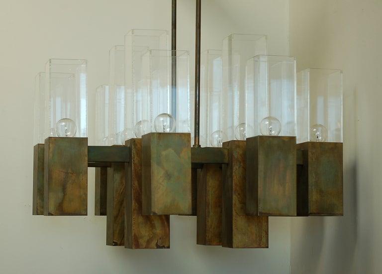 Robert Long Bronze Chandelier 6