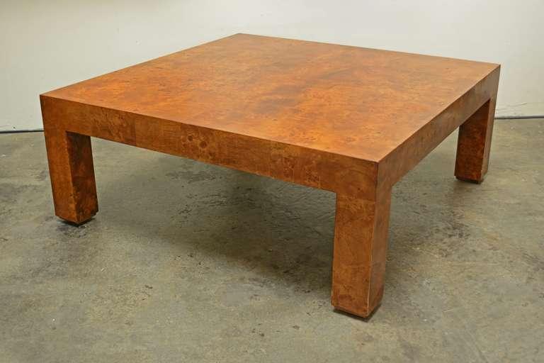Milo Baughman Burl Wood Coffee Table 2