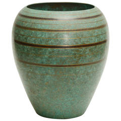 Carl Sorensen Art Deco Bronze Vase