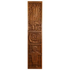 Evelyn Ackerman Carved Wood Panel for Era Industries