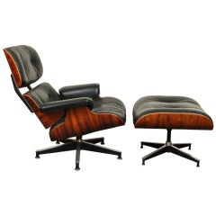 Charles and Ray Eames Rosewood Lounge and Ottoman