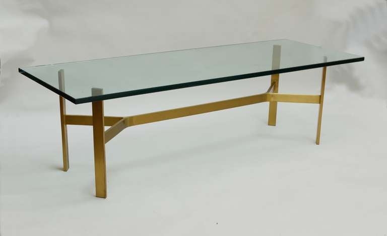 Brass architectural base coffee table at 1stdibs for Architectural coffee table