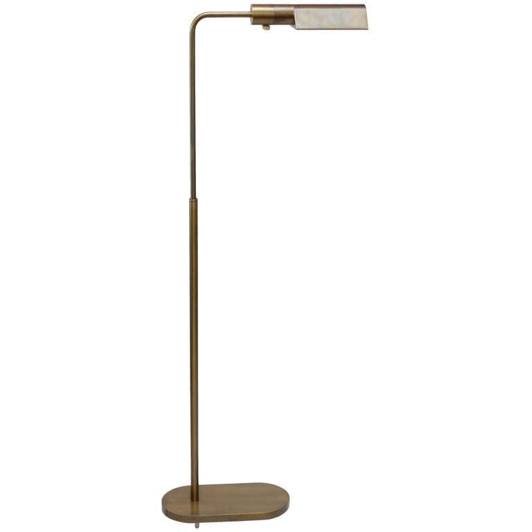 Brass casella adjustable floor lamp at 1stdibs for Casella brass floor lamp