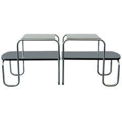 Gilbert Rohde for Troy Sunshade Streamline End Tables