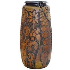 Monumental Andrew Bergloff Studio Pottery Floor Vase