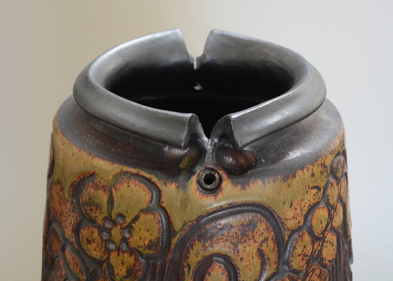 Monumental Andrew Bergloff Studio Pottery Floor Vase For Sale 1