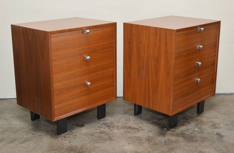pair of george nelson chest of drawers at 1stdibs. Black Bedroom Furniture Sets. Home Design Ideas