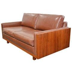 Walnut Case Two Seat Sofa