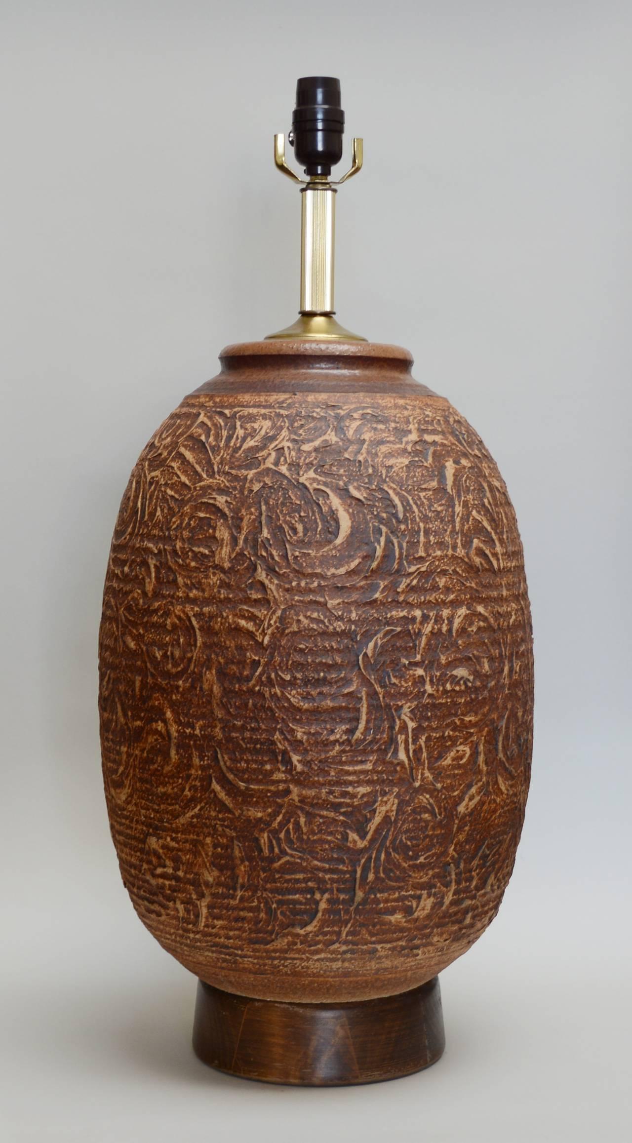 Bob Kinzie Studio Pottery Lamp At 1stdibs