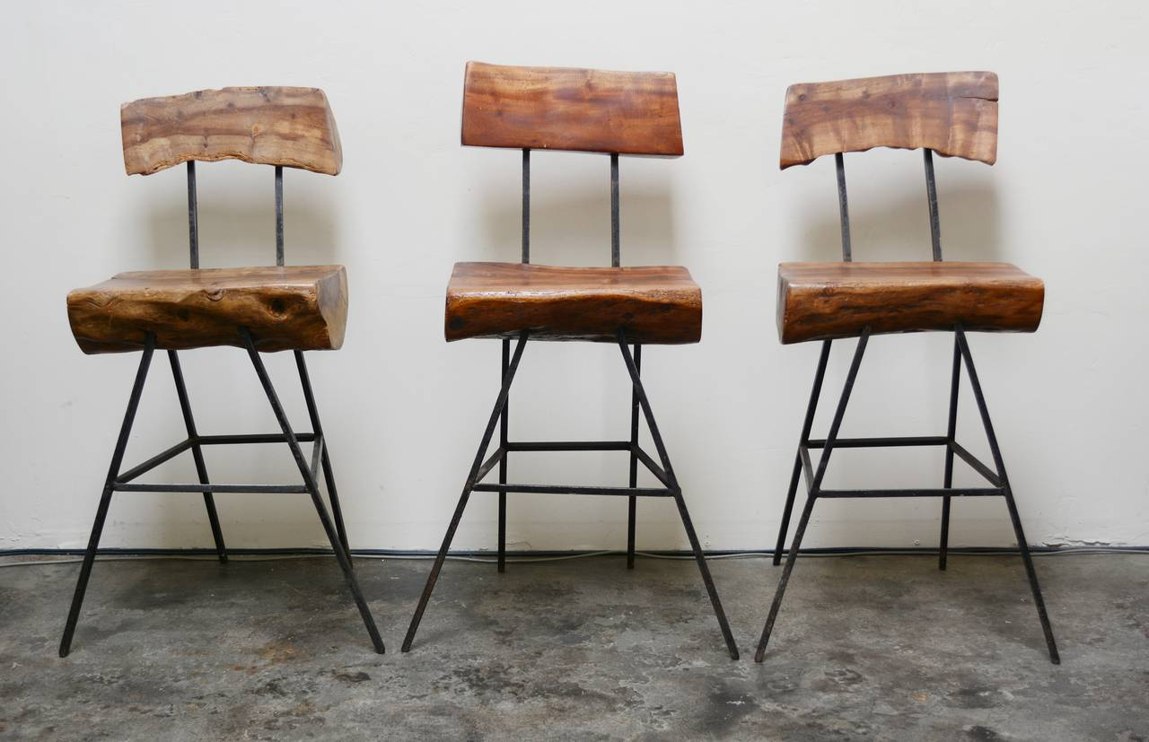 Rustic Modern Iron and Log Bar Stools at 1stdibs : sabenal from www.1stdibs.com size 1280 x 827 jpeg 94kB