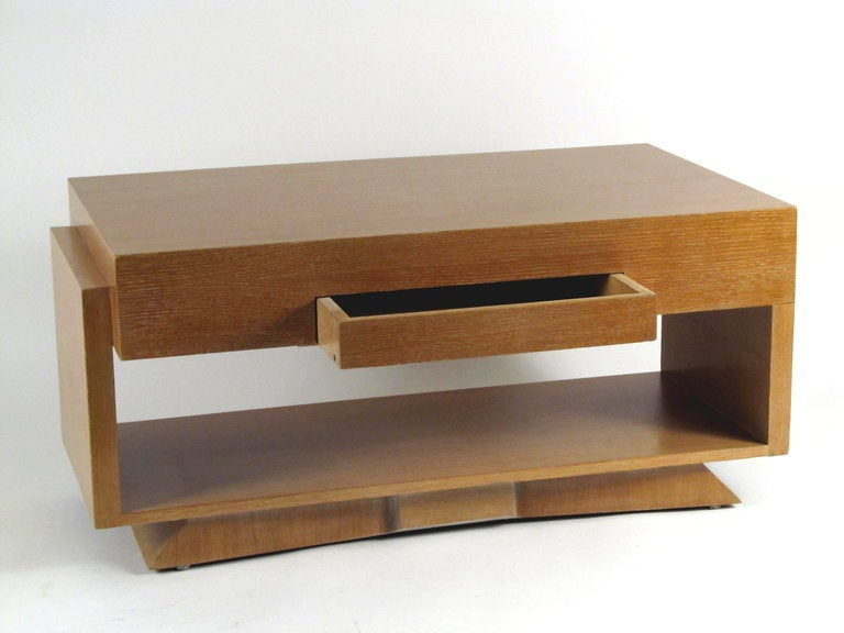 1940 39 s architectural blonde wood coffee table at 1stdibs for Architectural coffee table