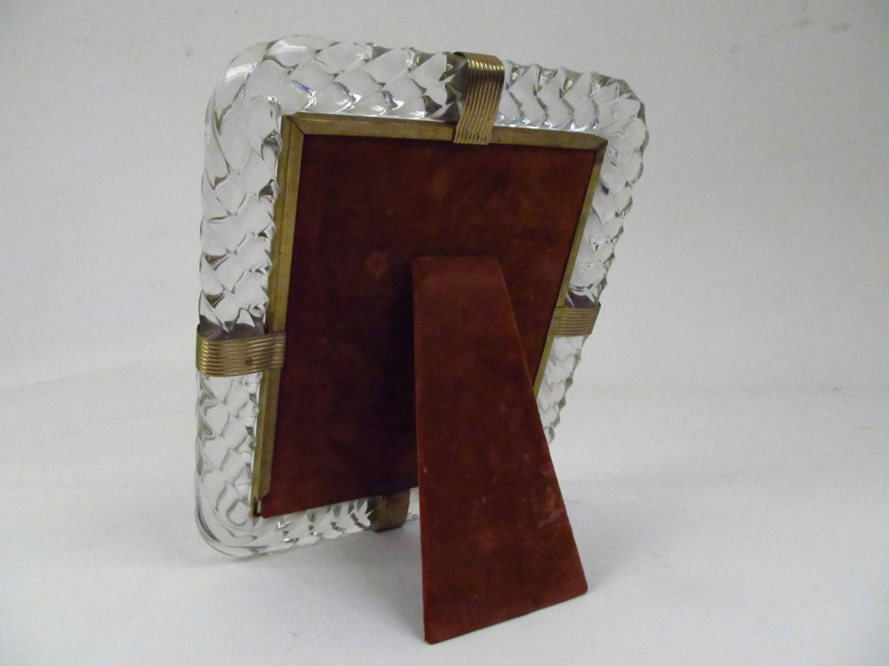 Twisted Rope Glass Picture Frame in the Manner of Venini 4