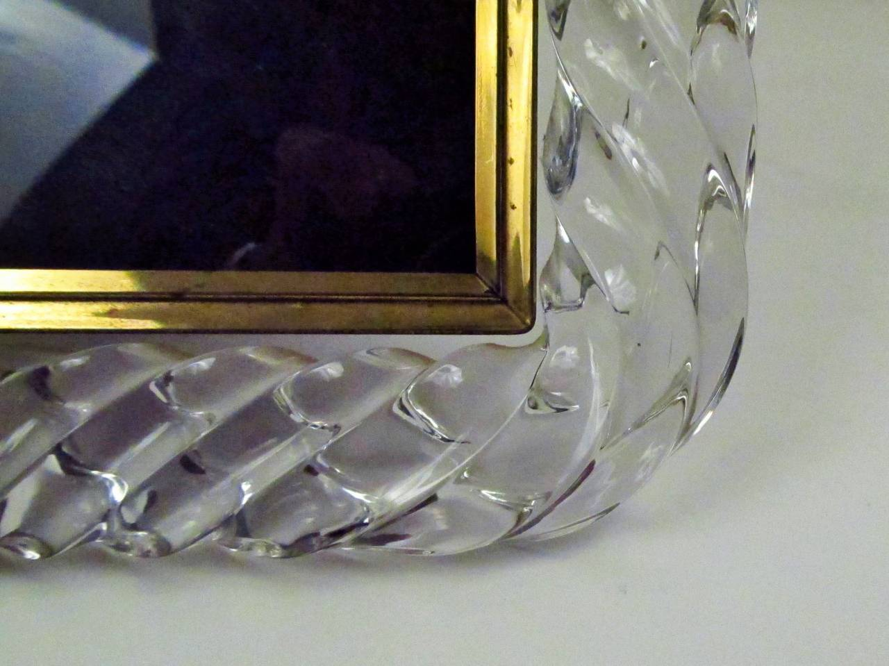 Twisted Rope Glass Picture Frame in the Manner of Venini 7