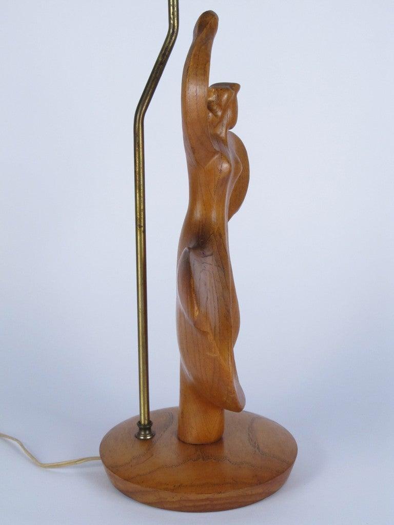 Heifitz Female Dancer Carved Wood 3