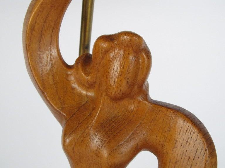 Heifitz Female Dancer Carved Wood 6