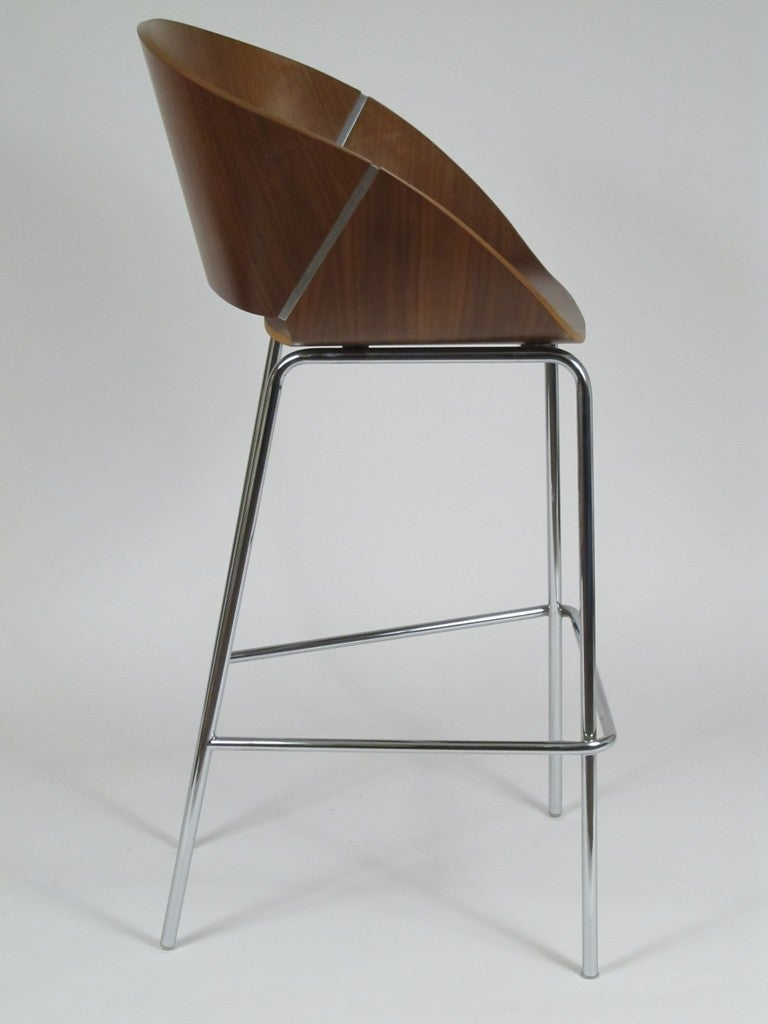 Bent Plywood and Chrome Modernist Bar Stools by Wolfgang  : 1stdibs047l from 1stdibs.com size 768 x 1024 jpeg 57kB