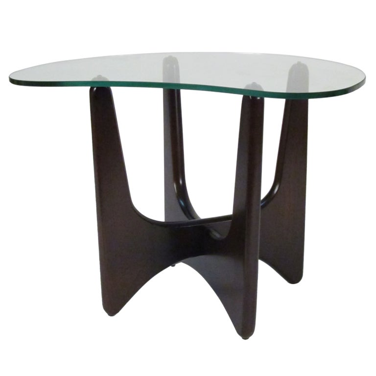 Adrian Pearsall Freeform Glass Top End Table At 1stdibs