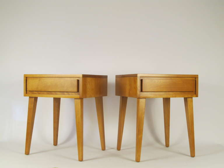 Pair Of Conant Ball Modern Mates Nightstands At 1stdibs