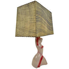 Heifetz Ceramic Female Figure Table Lamp