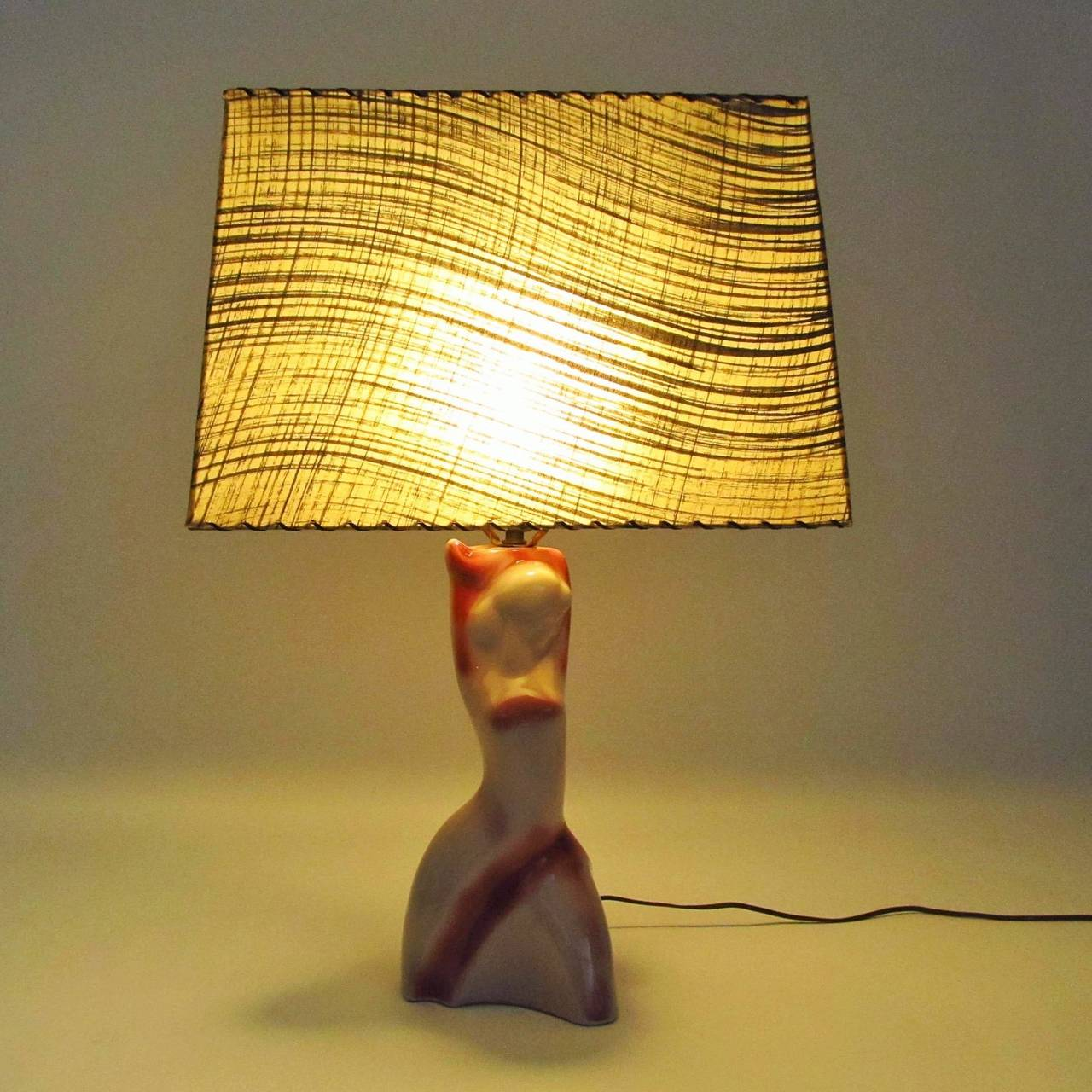 Heifetz Ceramic Female Figure Table Lamp 7