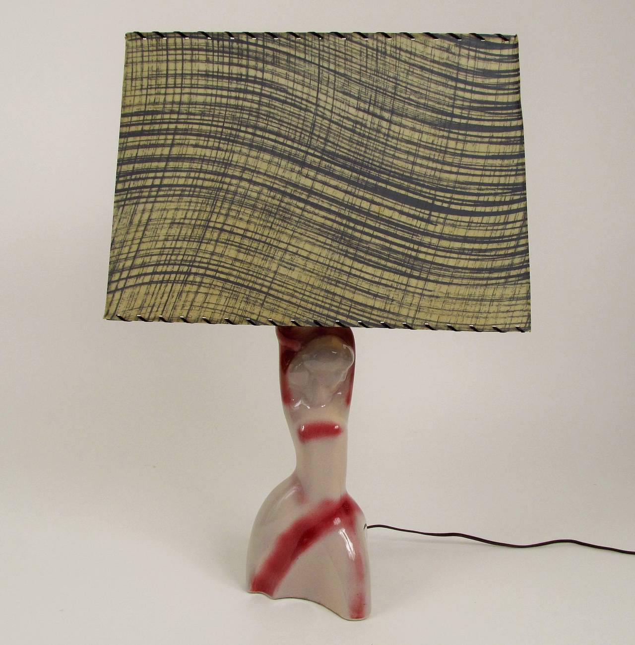 Heifetz Ceramic Female Figure Table Lamp 3