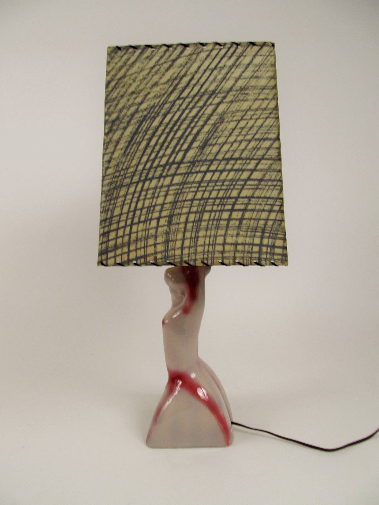 Heifetz Ceramic Female Figure Table Lamp 6