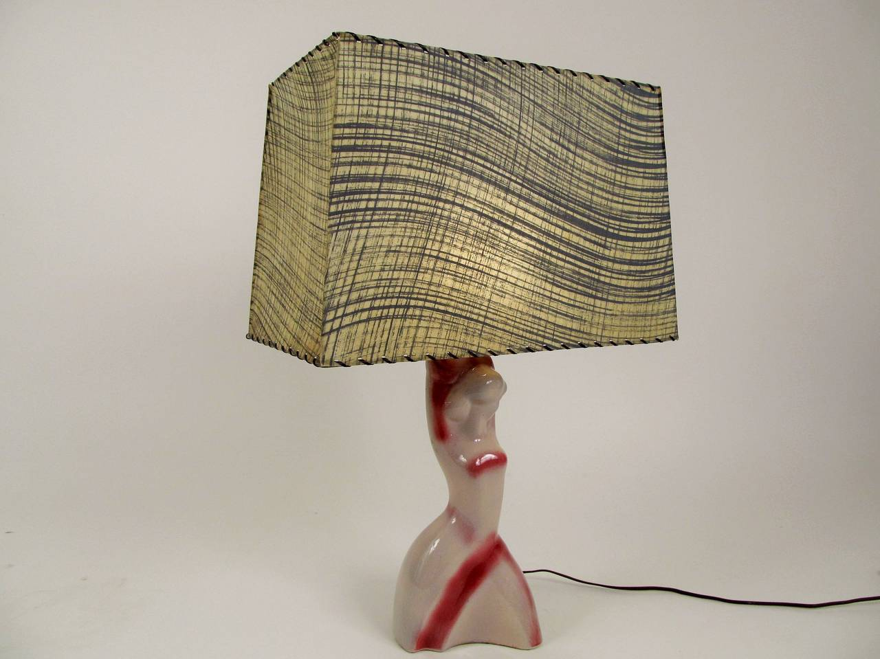 Heifetz Ceramic Female Figure Table Lamp 5