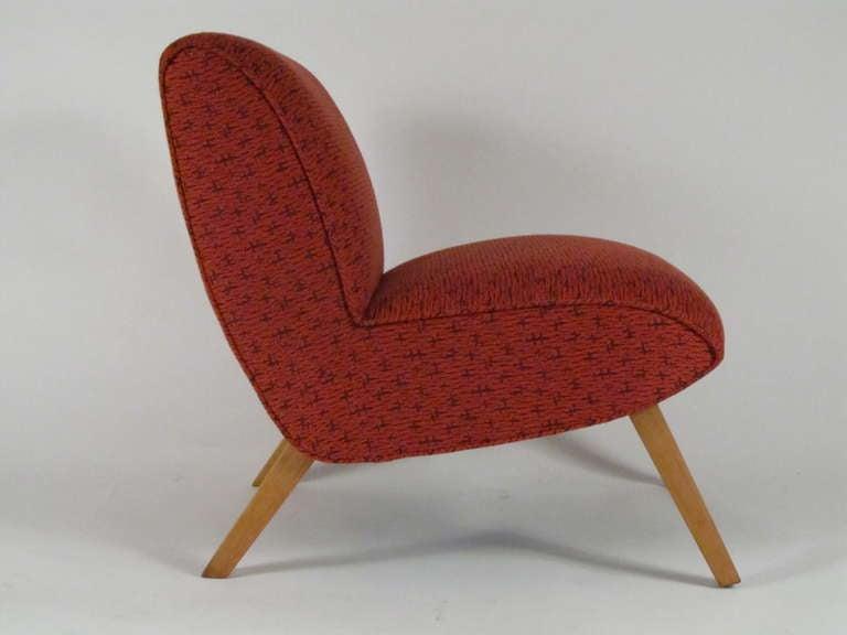 1950u0027s Mid Century Modern Slipper Chair 3