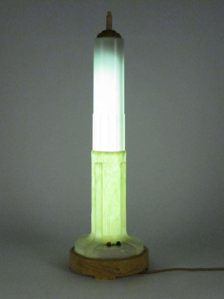 Quot All Lite Quot Art Deco Skyscraper Table Lamp At 1stdibs