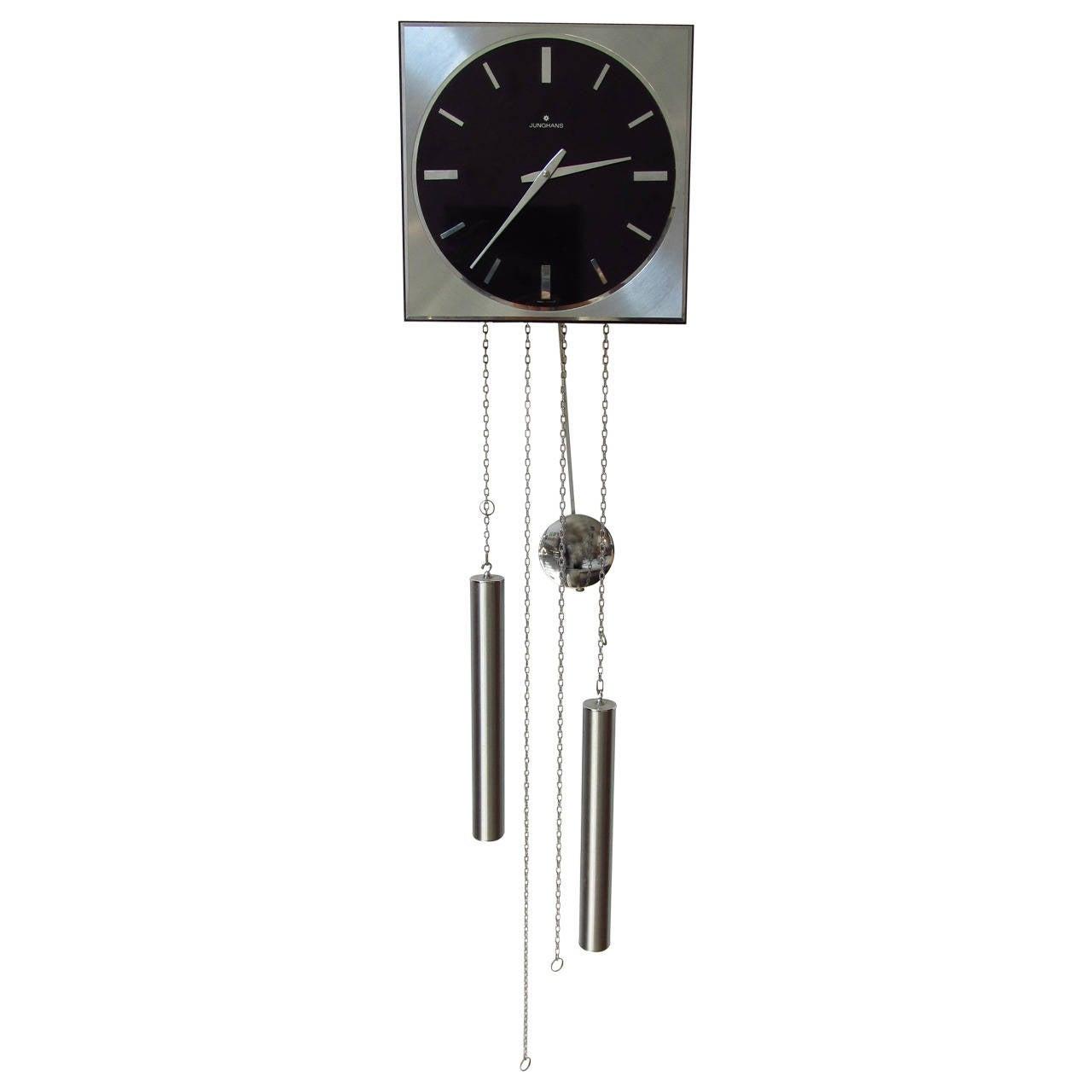Junghans german made mid century modern pendulum clock at 1stdibs - Contemporary pendulum wall clock ...