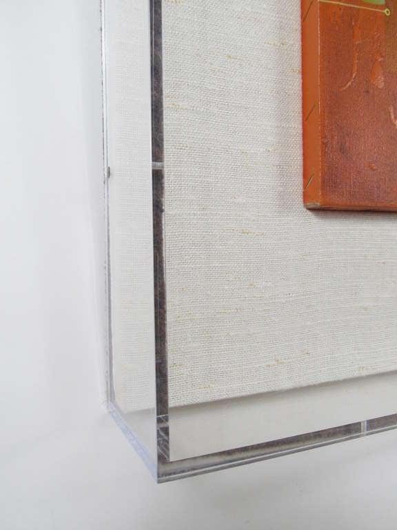 """Composition in Orange"" 1977 Oil on Canvas by Yankel Ginzburg 10"