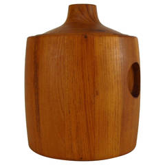 Henning Koppel Designed Teak Ice Bucket for Georg Jensen
