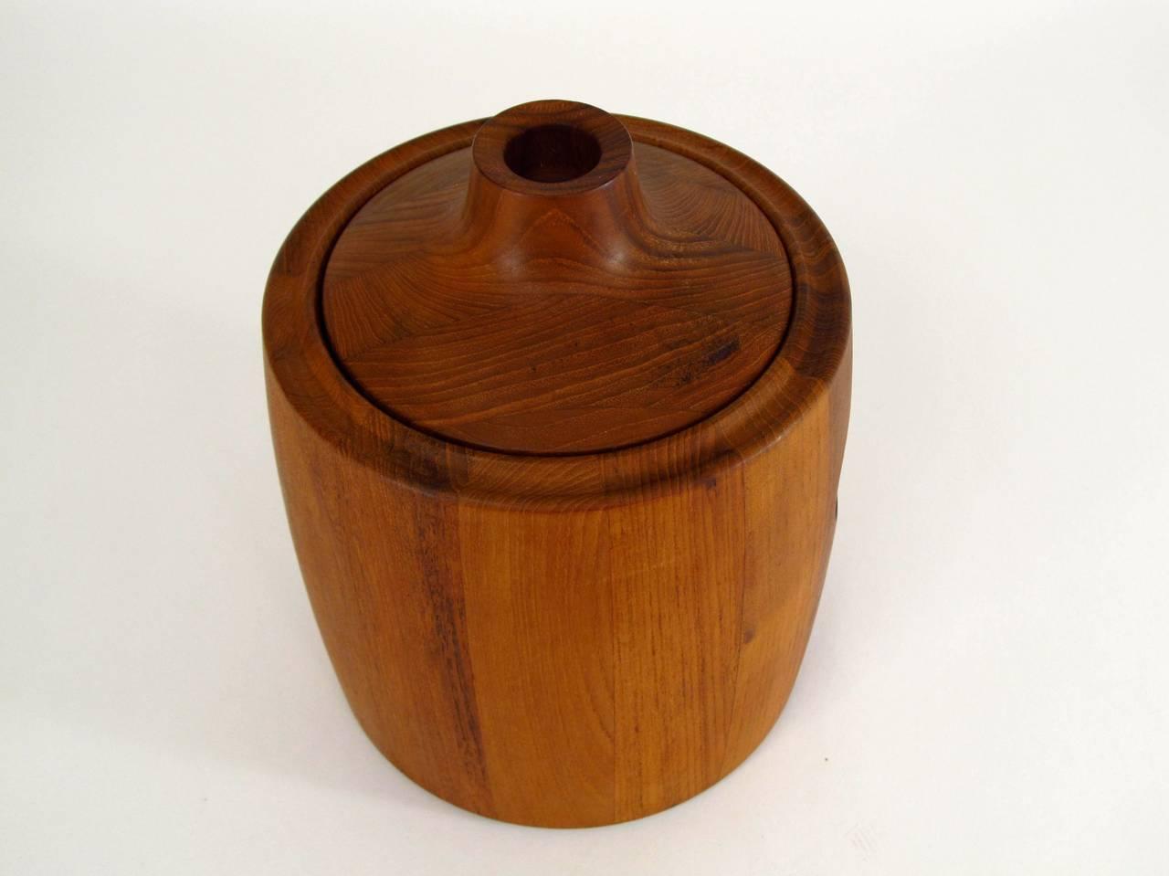 Henning Koppel Designed Teak Ice Bucket for Georg Jensen 3