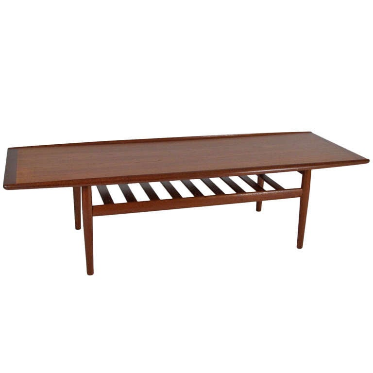 Greta Jalk Design Danish Teak Coffee Table At 1stdibs