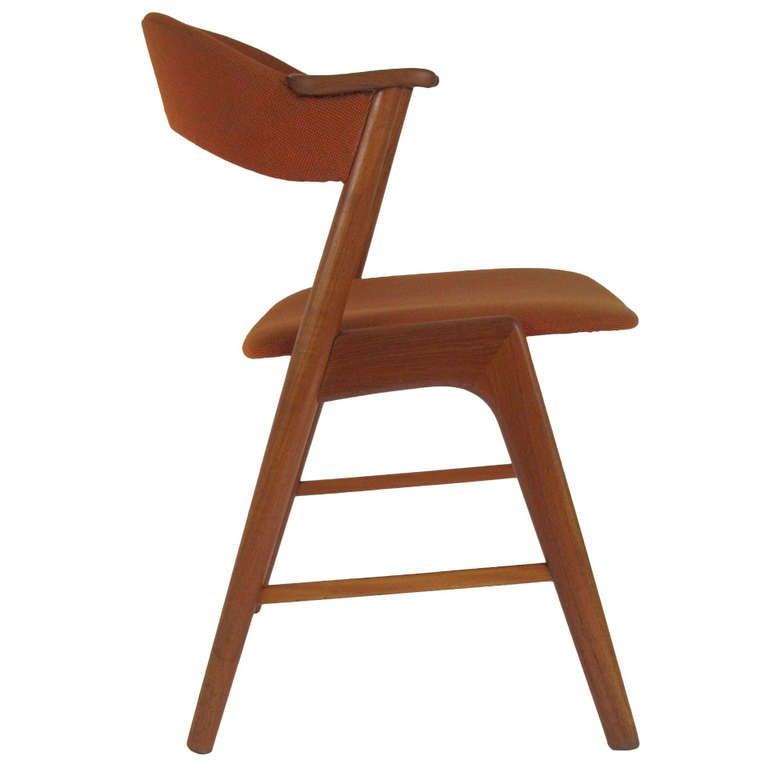 single kai kristiansen danish modern teak dining chair at 1stdibs