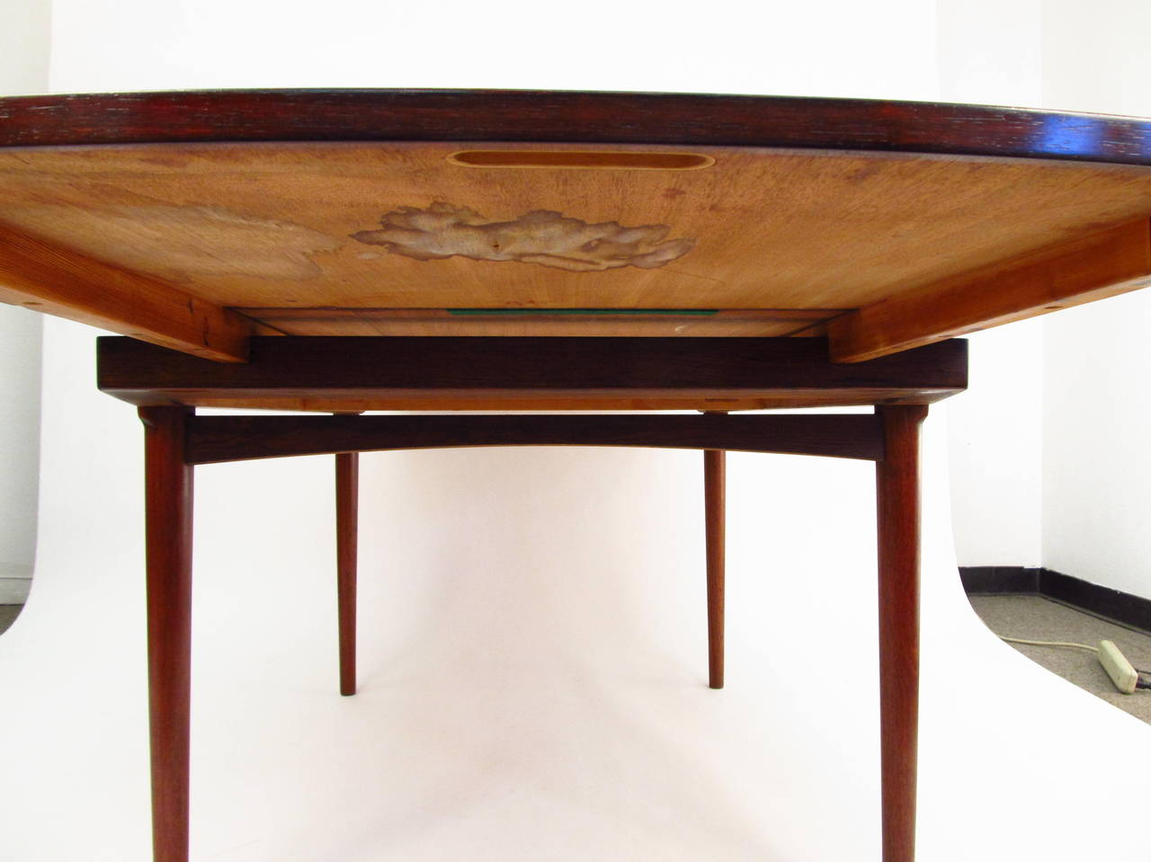 Beautiful Rosewood Draw Leaf Dining Table At 1stdibs
