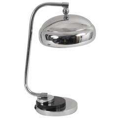 Classic Art Deco Chrome Desk Lamp