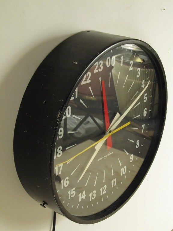 24 Hour Military Clock At 1stdibs