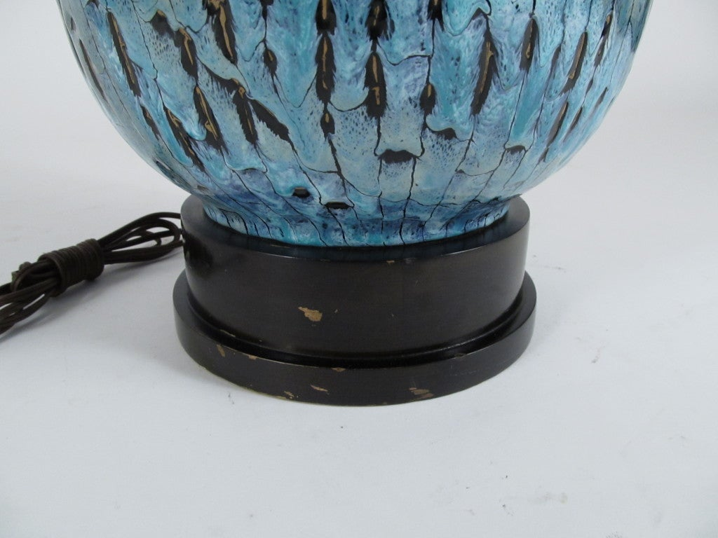 Italian Ceramic Table Lamp by San Polo 6