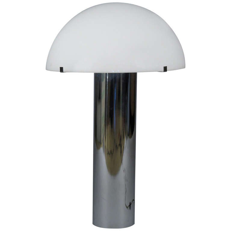 60 S Modern Chrome And Plastic Table Lamp At 1stdibs