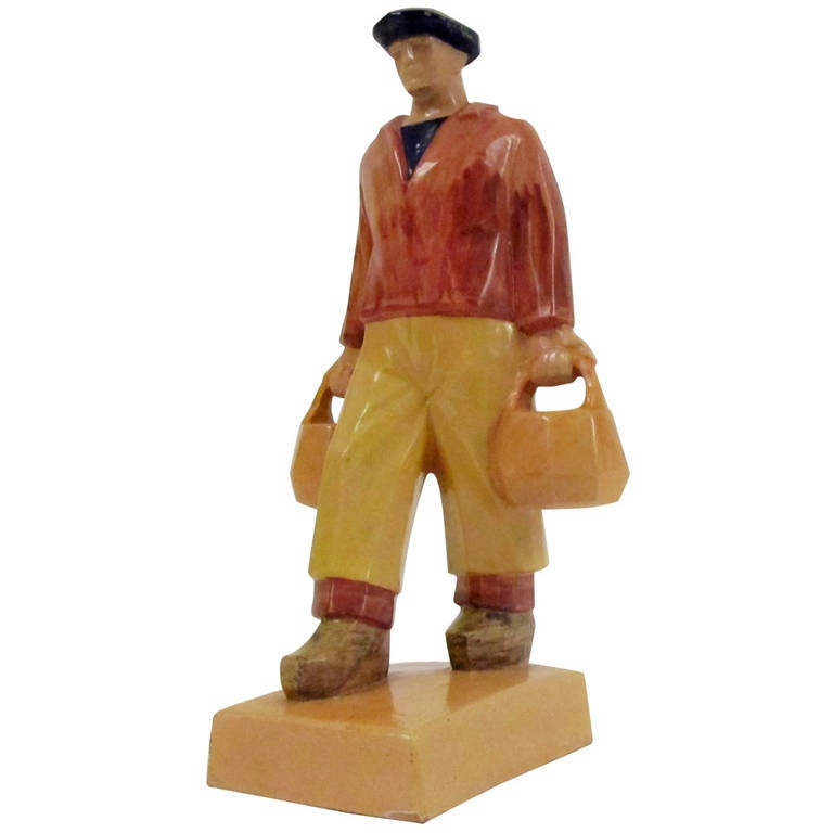 Rare Ceramic Sculpture by Emile-Just Bachelet for Henriot Quimper 1