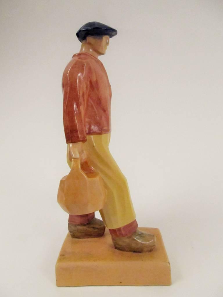 Rare Ceramic Sculpture by Emile-Just Bachelet for Henriot Quimper 2